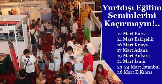 30 ülkeden 170 üniversite ve kolej Türkiye'ye geliyor