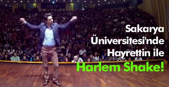 650 üniversite öğrencisi Hayrettin'le Harlem Shake yaptı