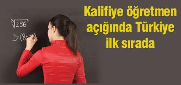 Kalifiye öğretmen açığında Türkiye ilk sırada
