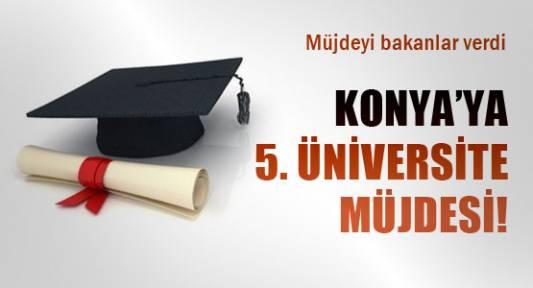 Konya'da müjdeyi bakanlar verdi.